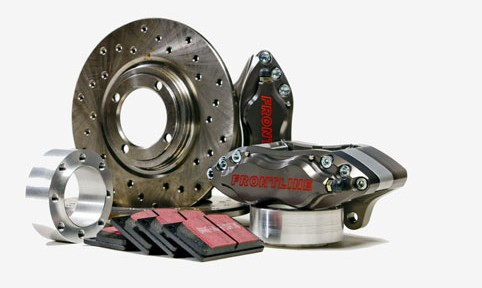 4-pot alloy brake kit cross drilled
